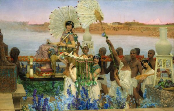 Lawrence Alma-Tadema, 1904. La découverte de Moïse. Collection privée.