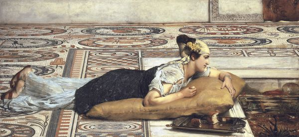 Lawrence Alma-Tadema. Water pets.1874. Collection privée. Courtesy Christie's.