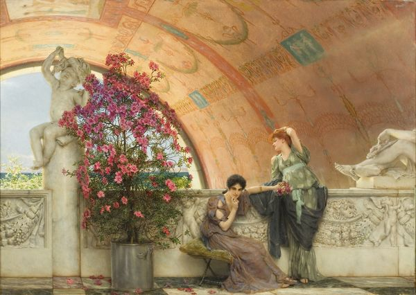 Lawrence Alma-Tadema. Rivales inconscientes.1893. Bristol Museums and Art Gallery.