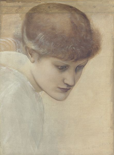 "Edward Burne-Jones Etude du visage de Dorothy Lane pour ""The Golden Stairs"" Prix: 33 750 livres"