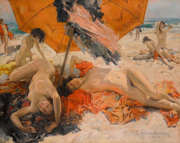 Howard Chandler Christy (1873-1952) Nus sur la plage, 1939 Estimation:70 000 à 100 000 livres