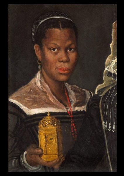 Annibale Carracci (1560-1609) Portrait d'africaine Galeire Tomasso brothers