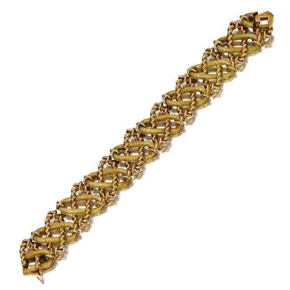 Jean Schlumberger. Bracelet en or et diamants. Estimation: 5 000 à 7 500 euros. Vente Bonhams New-York