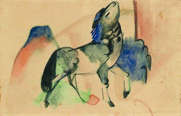"Franz Marc (1880-1916), ""Petit cheval"", vers 1912. Prix:340 000 euros. Martin Moeller and cie."