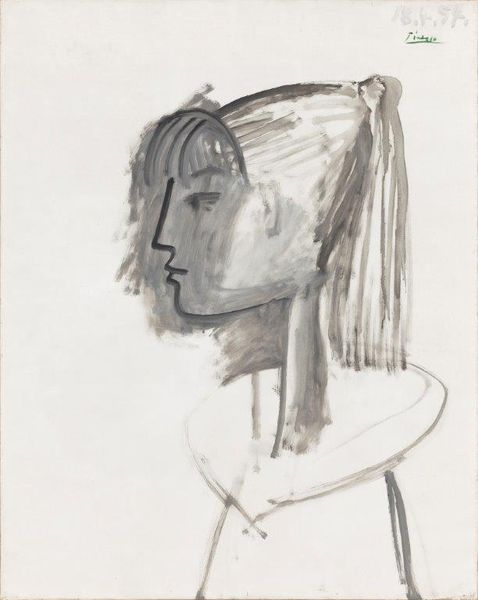 Pablo Picasso (1881-1973), portrait de Sylvette, 1954. Hammer galleries.