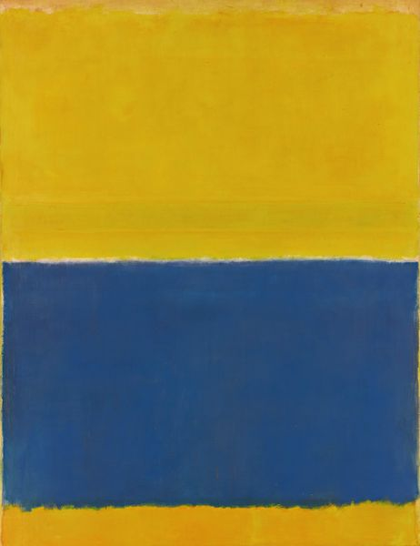 Mark Rothko (1903-1970), Untitled (yellouw and blue). Estimation: 40 à 60 millions de dollars. Vente Sotheby's New York 12 mai 2015.