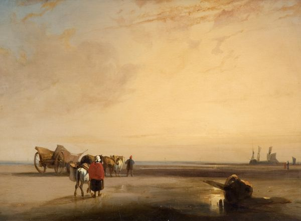 Richard Parkes Bonington (1802-1828) Plage de sable en Normandie. vers 1825-1826. Trustees of the Cecil Higgins Art Gallery Bedford.