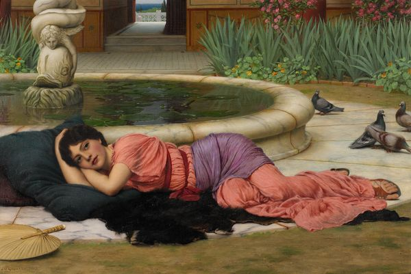 John William Godward. A cool retreat. Estimation: 350 000 à 450 000 euros. Sotheby's, 14 juillet.