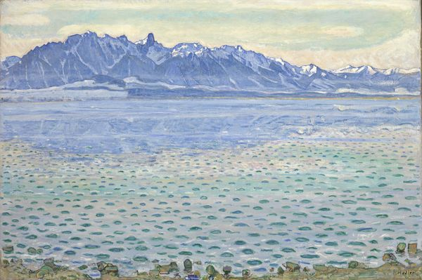 "Ferdinand Hodler ""Le lac de Thoune et la chaîne du Stockhorn"" 1904 Collection Christoph Blocher"