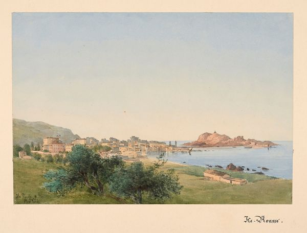 Charles William Meredith van de Velde (1818-1898) Vue d'Ile-Rousse, Balagne Estimation: 5 000 à 7 000 euros