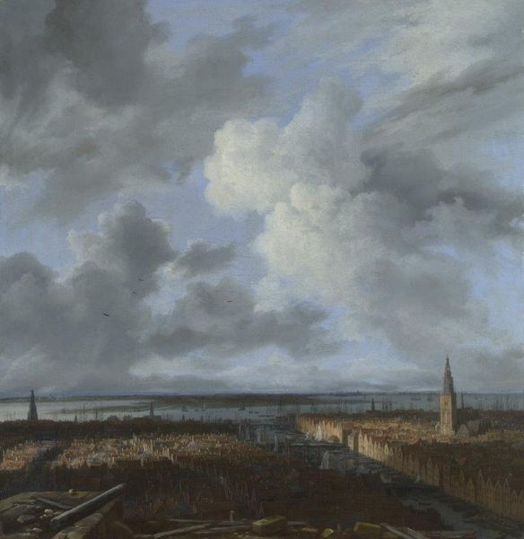 Jacob van Ruisdael (1628/29 -1682) Panorama d'Amsterdam du port et de l'IJ, vers 1665-1670 Collection particulière en prêt à la National Gallery, Londres